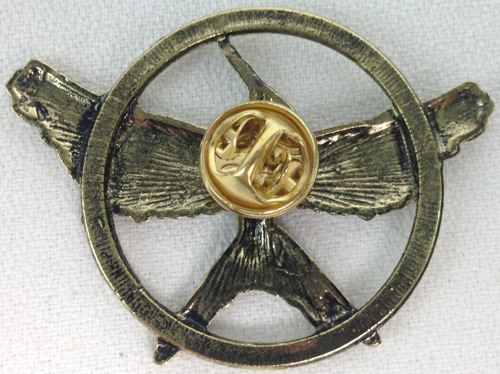 The Hunger Games Mockingjay Bronze Metal Pin (Version 2)