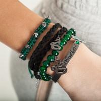 Harry Potter Slytherin 5 Piece Bracelet Set
