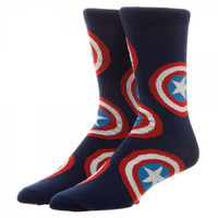 Marvel Captain America All-Over Print Crew Socks