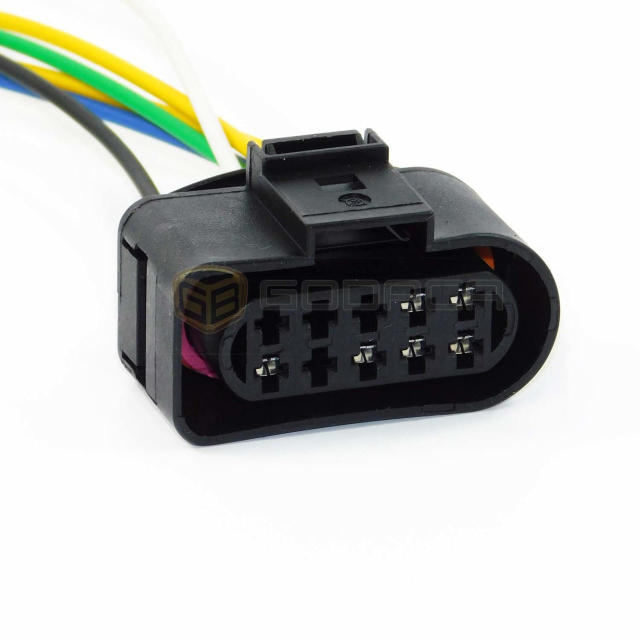 1x Connector 6 Wire for headlight Audi Volkswagen 1J0 973 735 ...