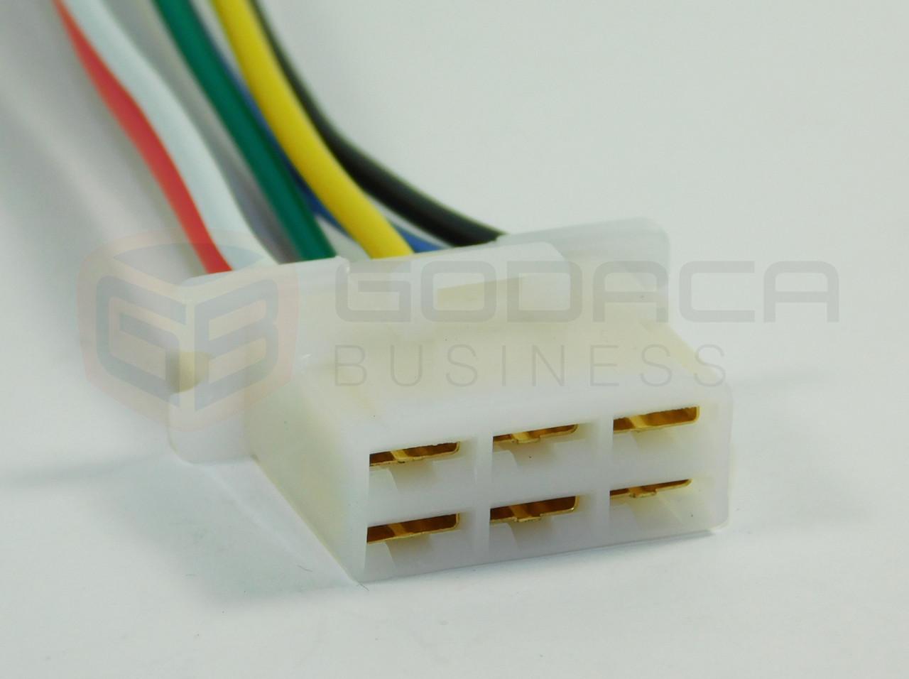 1x Connector Alternator Plug Repair Harness 6-way 6pin socket Female ...