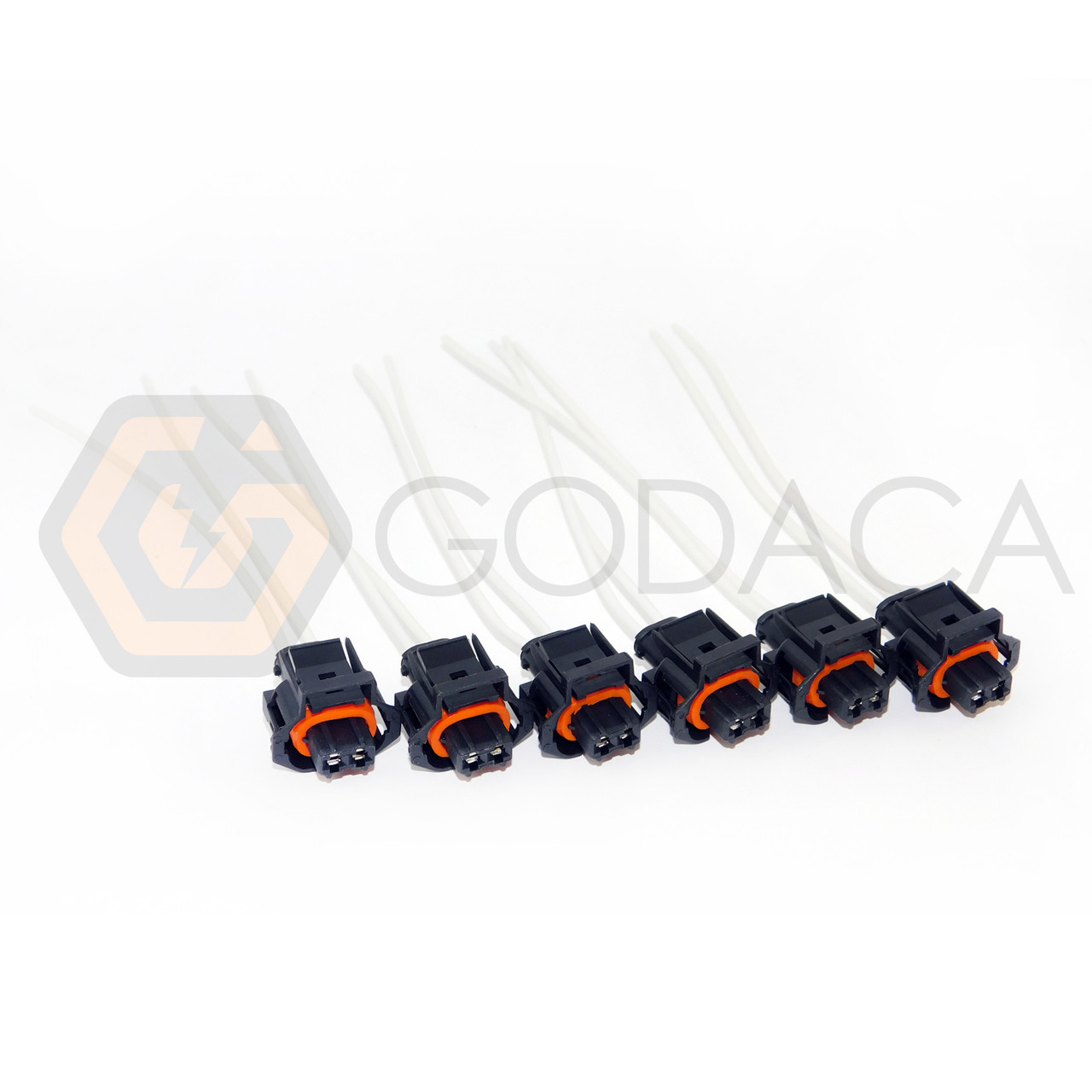 set of 6 fuel injector connector 6 6l for duramax lly lbz 2 wire rh godaca com Wiring Harness Plugs Pigtail Auto Wiring Harness Connector Plugs