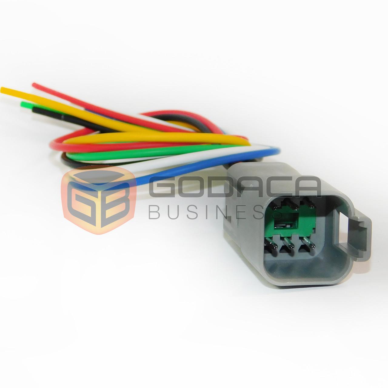 1x Set male Connector Plug 6-way 6 pin Deutsch DT series with wire ...