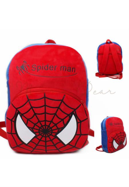 Spiderman Print Kids Fur Bag (Big)