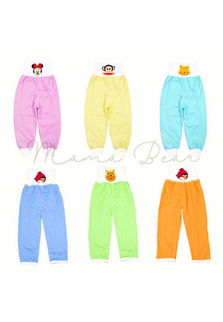 Baby Character Cotton High Waist Pants