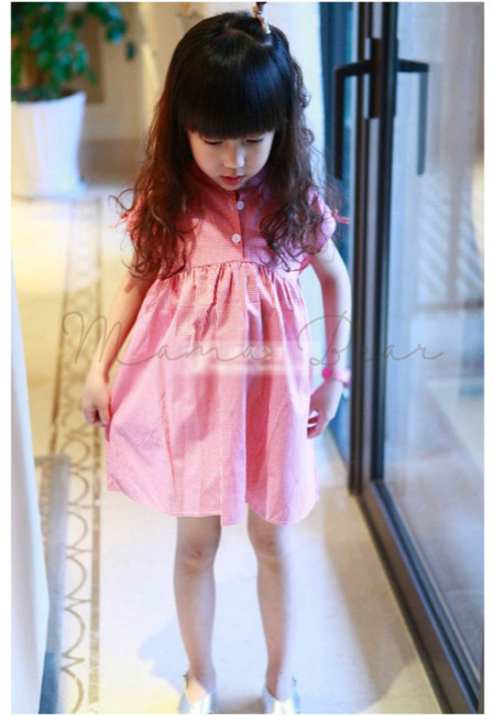 Cute Checkered Kid Dress