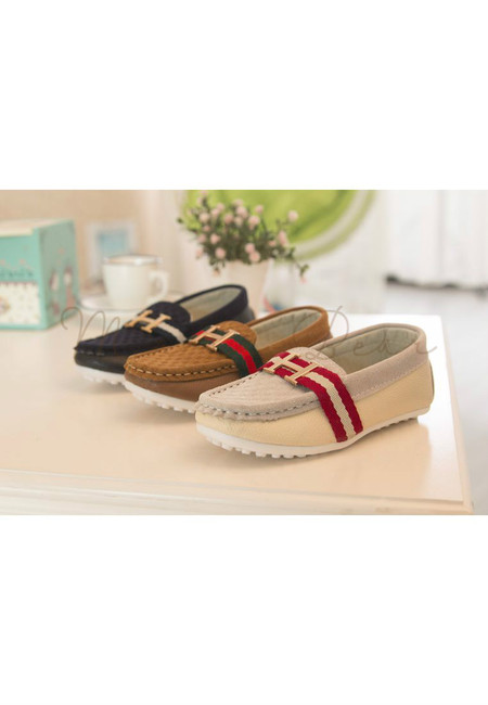 H with Stripes Suede Kids Loafers (On Hand)