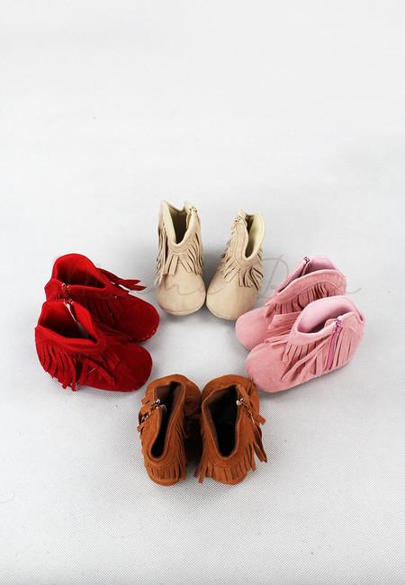 Tassel Fringe Baby Wedge Shoes
