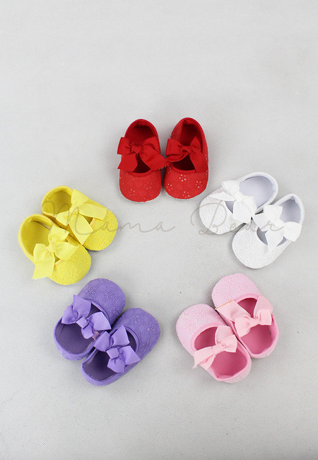 Lacey Ribbon Fancy Baby Shoes