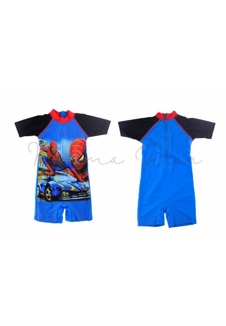 Spiderman Boys Kids Rash Guard Swimwear