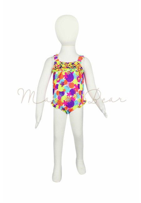 Playful Floral Kids Swimwear with UV Protection 5
