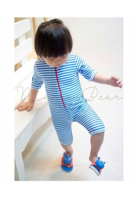 Blue Stripes Kids Swimwear 2pcs Set
