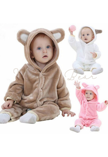 Hooded with Ears Animal Baby Onesies