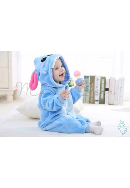 Blue Stitch Baby Onesies