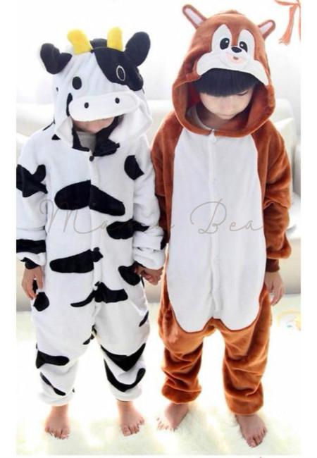 Cow or Squirrel Kids Onesies