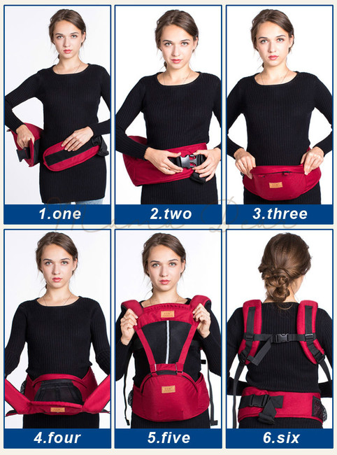 Ergonomic Breathable Sling Wraps Hipseat Baby Carrier