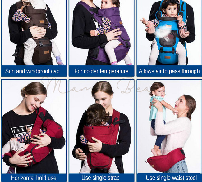 Multifunctional Breathable Cover Waist Wraps Baby Carrier
