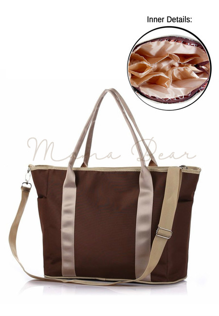 Mommy's  Multifunctional Baby Diaper Organizer Bag (Brown)