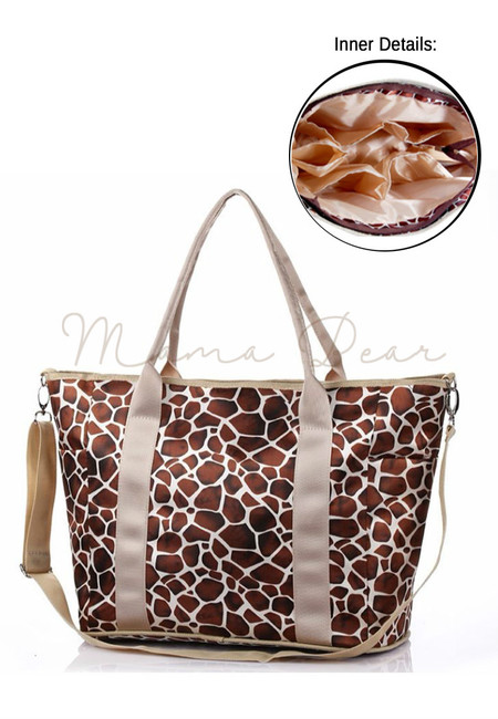 Mommy's  Multifunctional Baby Diaper Organizer Bag (Giraffe Print Brown)