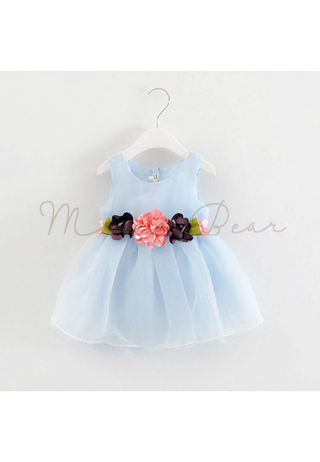 Lovely Floral Bowknot Kids Dress