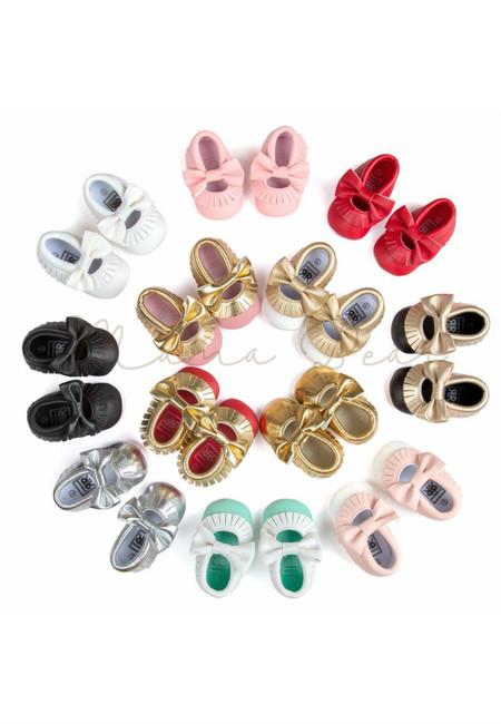 Ribbon Fringe Casual Baby Shoes