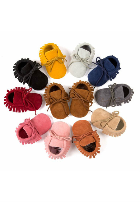 Simple Ribbon Fringe Casual Shoes
