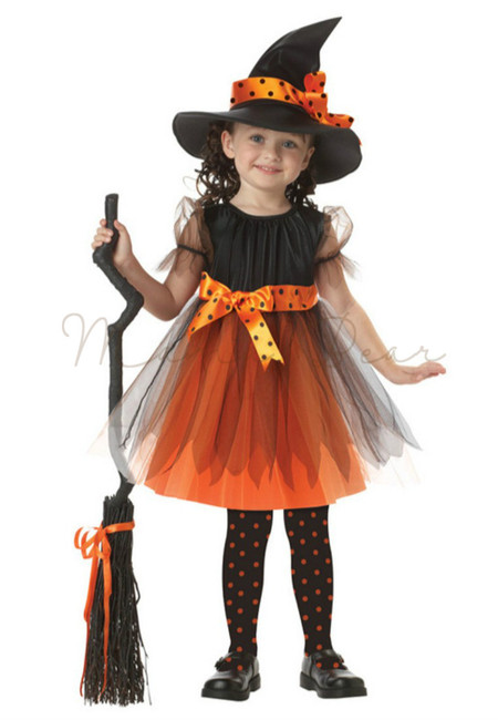 Orange and Black Witch Costume