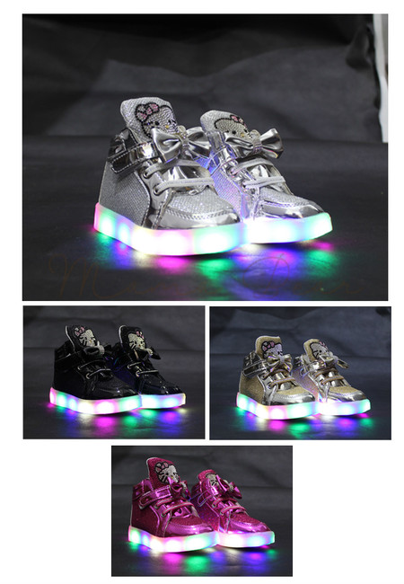 Hello Kitty Studs Baby/Kids Lighting Shoes