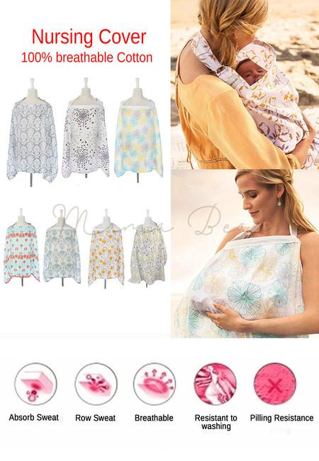 Breathable Cotton Gauze Nursing Breastfeeding Cover with Boning and Pocket