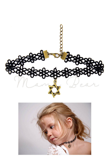 Double Star Floral Kids Choker