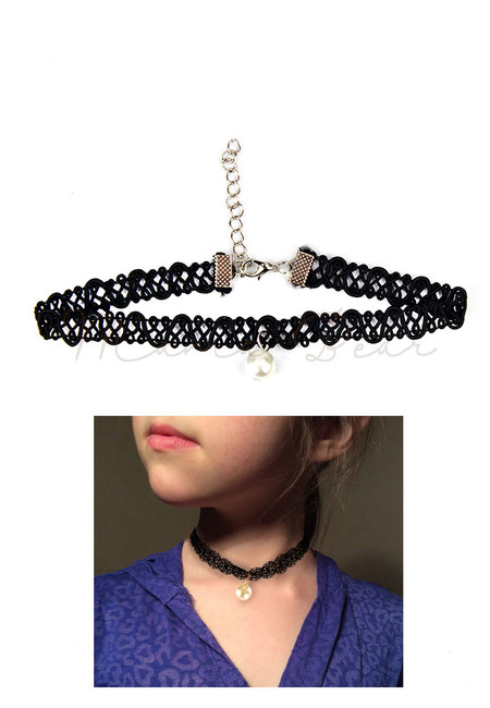 White Pearl Loop Kids Choker
