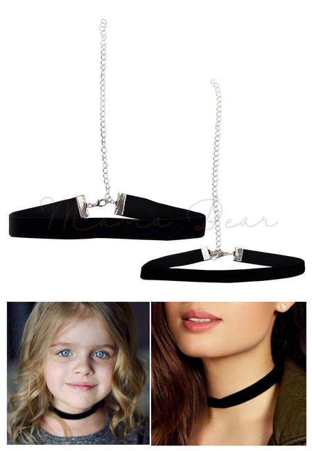 Adult and Kid Velvet Suede Choker