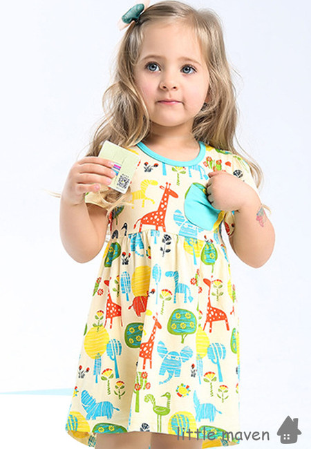 Little Maven Animal Print Kids Dress