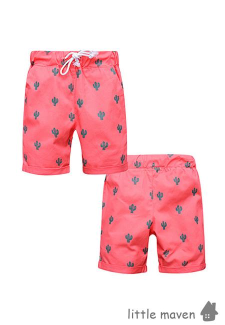 Little Maven Cactus Print Kids Shorts