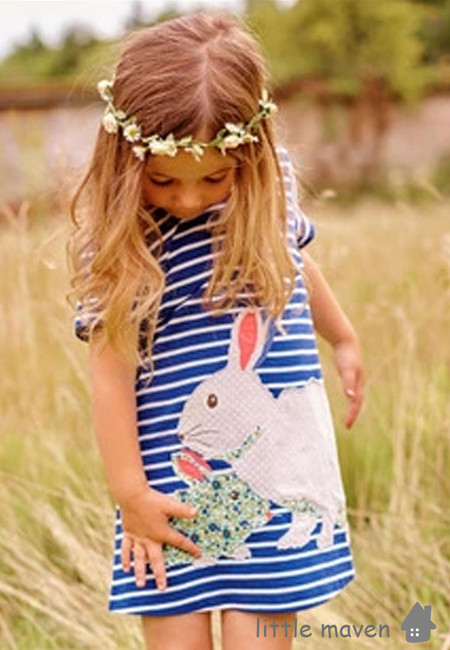 Little Maven Mother and Baby Rabbit Kids Dress