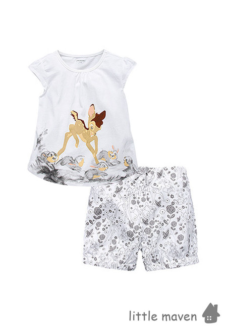 Little Maven Bambi and Friends Kids Clothing Set