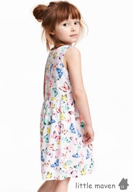 Little Maven Colorful Butterfly Print Kids Dress