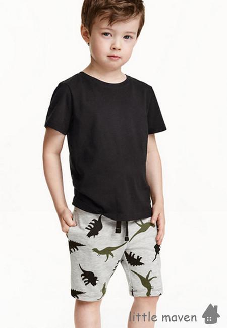 Little Maven Dinosaur Print Kids Shorts