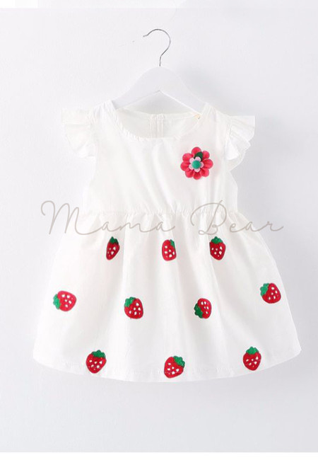 Strawberry Print Baby Dress