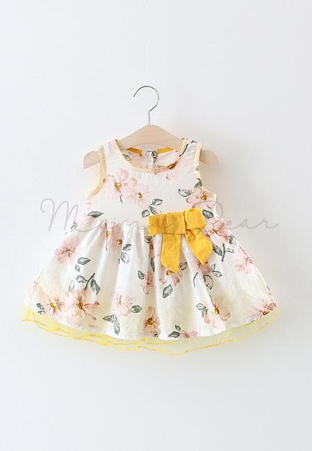 Floral Print Ribbon Dress
