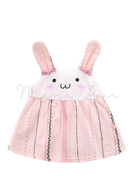 Pink Bunny Sleeveless Dress