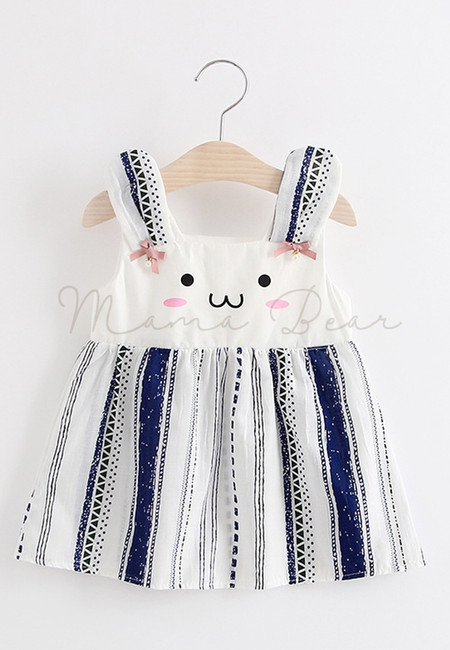 Little Bunny Face Sleeveless Dress