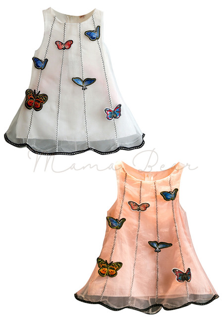 Butterfly Patch Sleeveless Dress