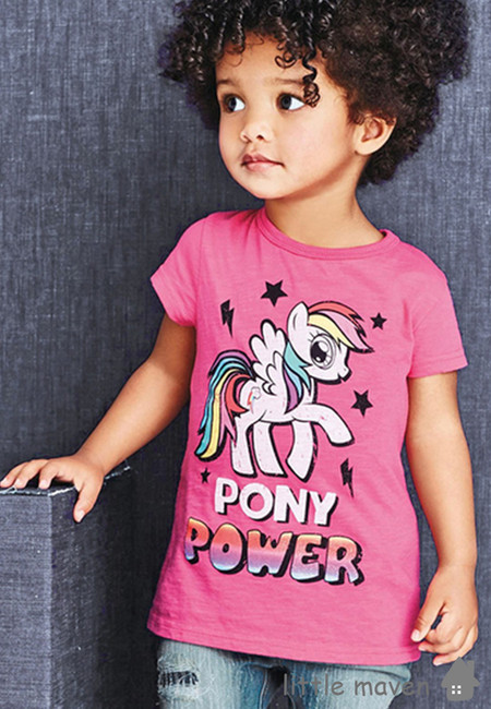 Little Maven Pony Power Kids Top