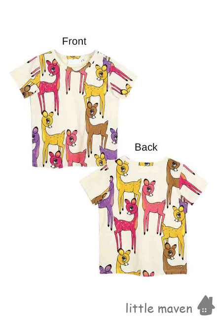 Little Maven Colorful Bambi Print Kids Top
