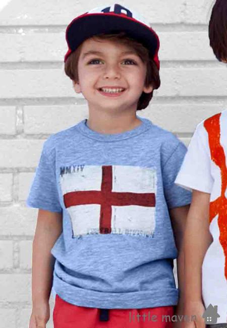 Little Maven England Flag Print Kids Top