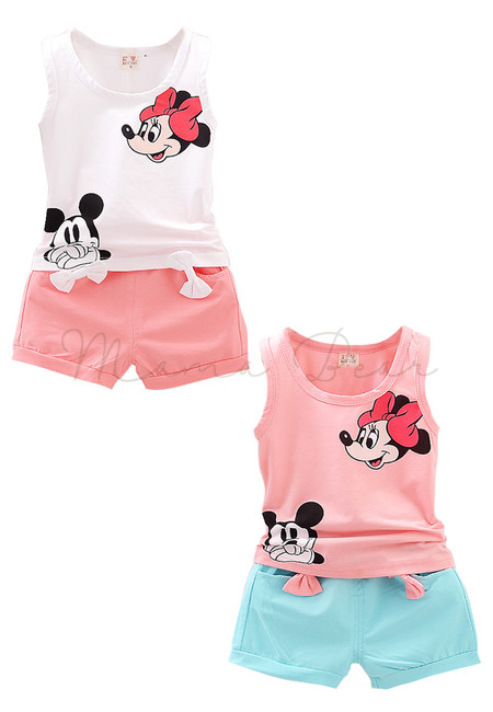 Mickey and Minnie Print Top Clothing Set