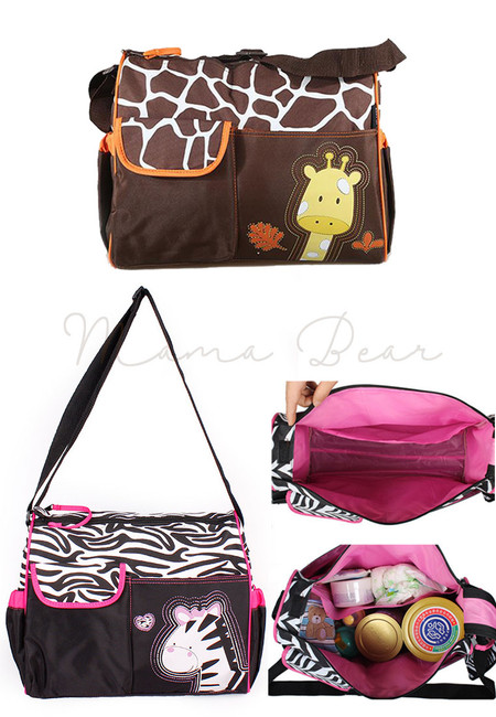 Multifunction Animal Print Nappy Diaper Bag