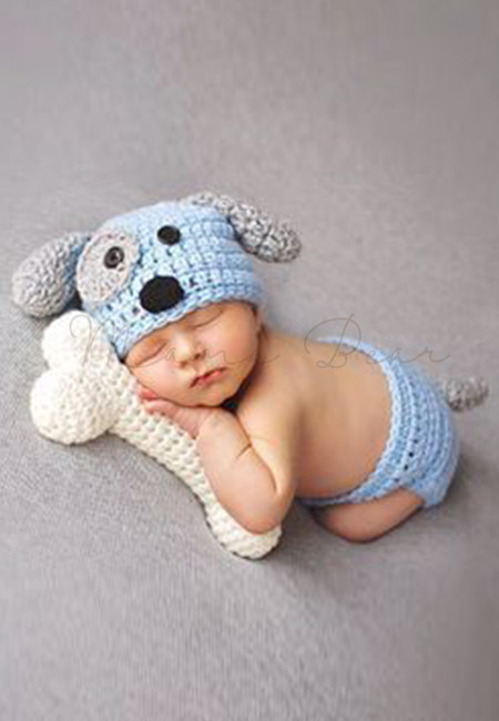 Puppy Dog Knitted Crochet Baby Costume Set