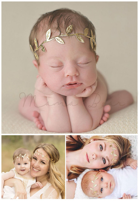 Mother and Daughter Leaf Pattern Headband Set